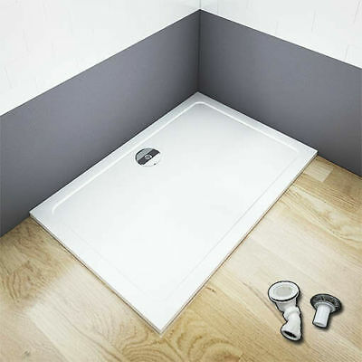 £103.14 • Buy New Aica 30mm Slimline Shower Enclosure Stone Tray Free Waste Rectangle Square