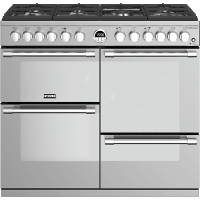 £1729 • Buy Stoves Sterling S1000DF 100cm 7 Burners A/A/A Dual Fuel Range Cooker Stainless