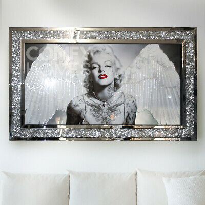MARILYN MONROE CRUSHED CRYSTAL PICTURE FRAME 120 X 80cm - FREE DELIVERY • 245£