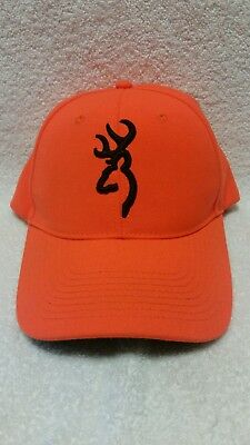 Browning Blaze Orange Black Hunter Adjustable Snapback Baseball Cap Hat  NWOT • 12.50  901395bb644