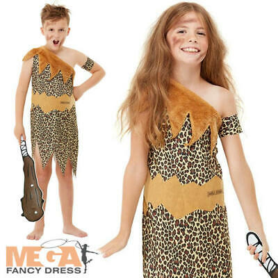 £14.99 • Buy Horrible Histories Cave Man Kids Costume Stone Age Boys Girls Book Day Costume