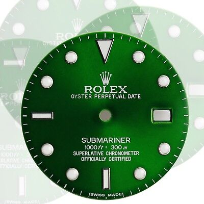 $ CDN229.44 • Buy To Fit Rolex Submariner Steel Green Luminous Dial Model16800, 16610, 116610.