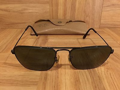 af438c4d8be 1950 s Ray Ban Caravan Aviators Black Chrome 52mm Bausch   Lomb USA Rare