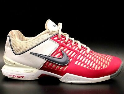 d258133e213a NIKE Zoom Breathe 2K10 Women Tennis Shoes Size 9 Pink White Gray 386480 •  26.04