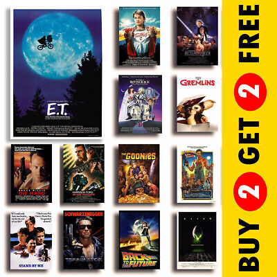Classic 80s Film Posters, Movie Prints, Nostalgic Film Posters A3 A4 Home Decor • 3.49£