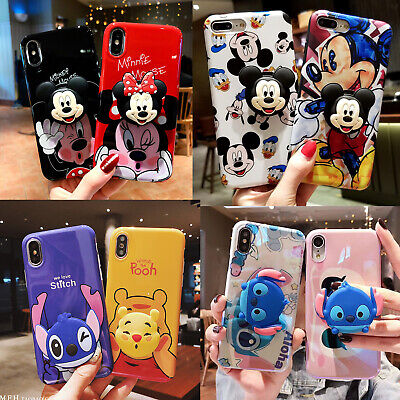 AU10.38 • Buy For IPhone 12 Pro Max 11 XR 8 Cute Cartoon Disney Soft Case Cover & Stand Holder