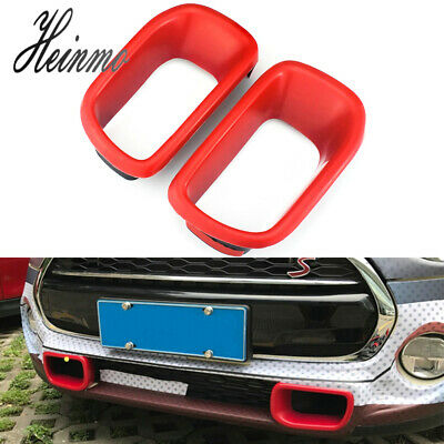 $30.39 • Buy Red Front Bumper Brake Air Duct Cover Trims For MINI Cooper R60 Countryman