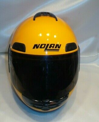 1e84c350 Nolan Small Yellow Full Face Shield Motorcycle Helmet • 69.00$