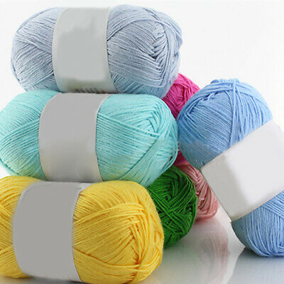AU4.56 • Buy 1Pc 50g Per Skein Soft Bamboo Crochet Cotton Knitting Baby Knit Wool Yarn Proper