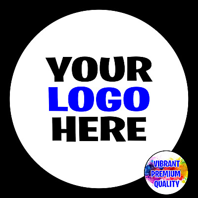 Personalised Round Printed Stickers Custom Logo Labels Business Shipping • 2.69£