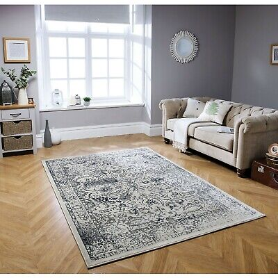 Small - Large Abstract Distressed Faded Pile Vintage-look Rugs & Runners • 49.99£