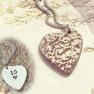 Reversible Tin Necklace - 10th Wedding Anniversary Gift - Tin Gift • 25£
