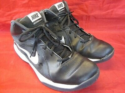 size 40 ae79a 48550 Nike Air Overplay Basketball Shoes Size 10.5  831572-001 Black White 2016 •