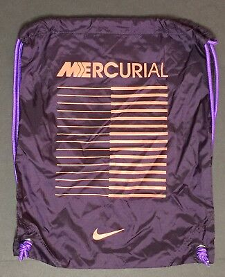 5f8431a76f Nike Mercurial Cleat Bag Backpack DrawString Gym Football Soccer Purple New  • 19.99