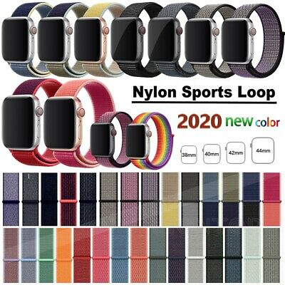 $ CDN5.49 • Buy For Apple Watch Series 5/4/3/2 Nylon Sports Loop IWatch Band Strap 38/40/42/44mm