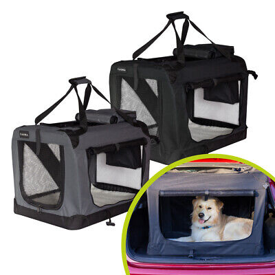 View Details Fauna® Dog Puppy Lightweight Travel Crate Portable Folding Pet Car Cage Carrier • 49.99£