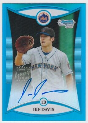 $6.50 • Buy 2008 Bowman Chrome Ike Davis Rc Rookie Auto Blue Refractor Card 53/150