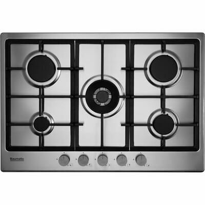 Baumatic BHIG750X Built In 74cm 5 Burners Gas Hob Stainless Steel • 179£