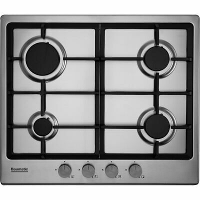 Baumatic BHIG620X Built In 60cm 4 Burners Gas Hob Stainless Steel • 109£