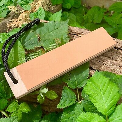 Wooden Double Sided Leather Strop Knife Polishing Burr Removal Paddle Bushcraft • 15.99£