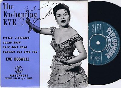 £17.20 • Buy EVE BOSWELL The Enchanting Eve UK EP 45PS 1957 Signed