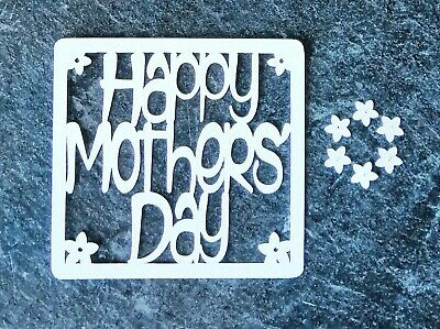 £3.50 • Buy Happy Mothers Day Rectangular Toppers - Card Making / Scrapbooking - Scan'N'Cut