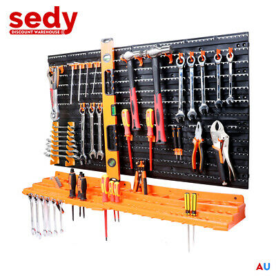AU32.98 • Buy New 52Pc Wall Mounted Tool Storage Rack Wrench Spanner Holder WorkShop Organizer