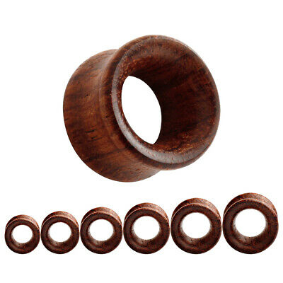 AU6.10 • Buy CHERRY WOOD Timber Ear Tunnels Piercing Stretchers Jewellery Plugs Wooden TU186