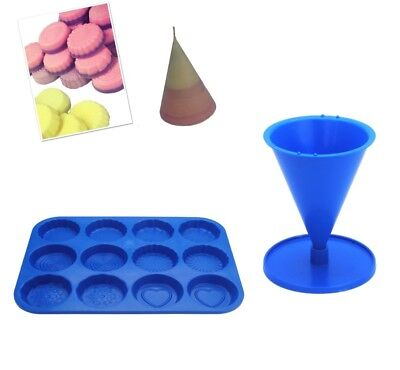 Set X 2 Cone Candle Mould With Base & Wax Melt Tart Tray, Swirl, Heart Etc S7756 • 7.20£