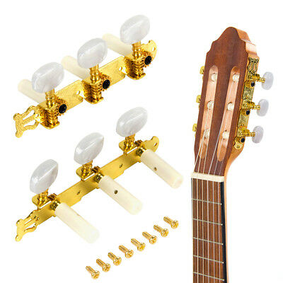 $ CDN8.99 • Buy Gold Guitar String Tuning Pegs Tuners Machine Heads Keys For Classical Guitar