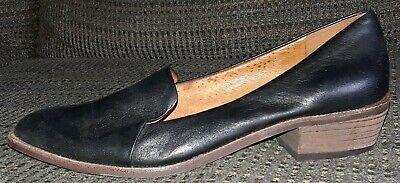 72bfd96e01b Madewell Orson Pointy Toe Black Leather Loafers Womens Shoes Sz 5.5 Frances  • 39.97