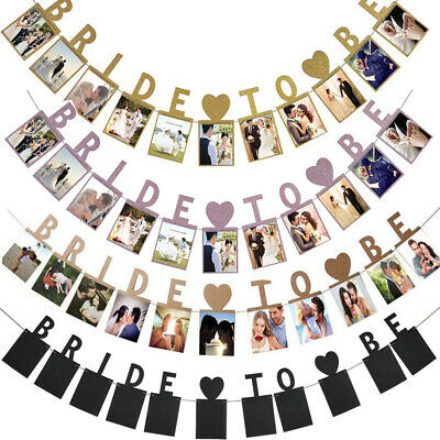 Bride To Be Hen Do Party Photo Bunting Banner Garland Decor Wedding Bridal Props • 3.39£