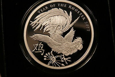 $ CDN169 • Buy 2017 SBSS 2 Oz Silver Shield PROOF Year Of The Rooster V1 Mintage 441. COA & Box