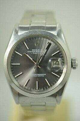 $ CDN4281.90 • Buy Rolex 1500 Ss 34mm Oyster Date Sliver Dial Mens Automatic Watch