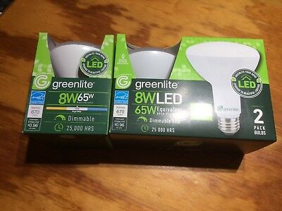 $29.99 • Buy 12 Pack LED E26 Light Bulb BR30 8w/65w Dimmable Flood Recessed