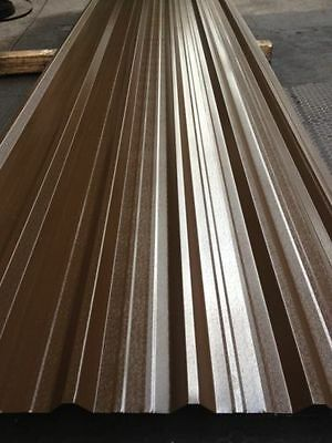 £3 • Buy Corrugated Roofing Sheets, Vandyke Brown.5mm Plastic Coated, **WE MANUFACTURE**
