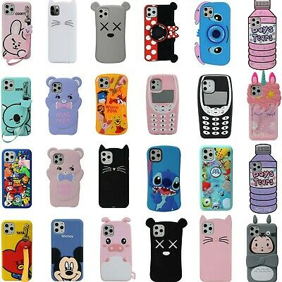 3D Cartoon Cover Case For IPhone 11 Pro Max 11 X XS XR XS Max 8 7 6 6S Plus 8 7 • 2.99£