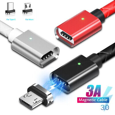 $ CDN4.84 • Buy Magnetic Type C Cable Micro USB C Fast Charger Phone Cord For Samsung S10 S9 S8+