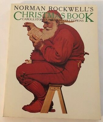 $ CDN9.32 • Buy Norman Rockwell's Christmas Book - Carols, Stories, Poems, Recollections 1977