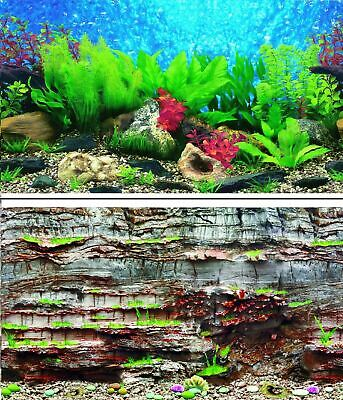 AU22.60 • Buy Aquarium Fish Tank Background Double Sided 31  / 80cm High - 2 To 10 FT Lengths