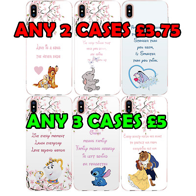 Disney Quote Princess Hard Cover Case IPhone NEW SE 6S 7 8 X XS XR Samsung S8 S9 • 2.50£