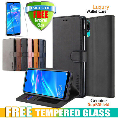 AU9.45 • Buy For Huawei Y7 Pro 2019 Case Wallet Leather Flip Cover + Tempered Glass Protector