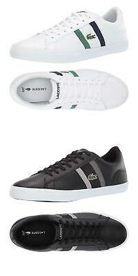 0a54120f15a5 NEW Lacoste Men s Lerond Fashion Lace Up Casual Sneakers Fashion Leather  Shoes • 89.95