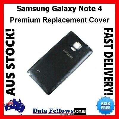AU7.99 • Buy SAMSUNG Galaxy Note 4 Black Battery Back Door Cover Note N910 N915 New