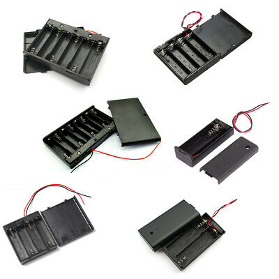 AU10.16 • Buy AA Battery Case Holder With Cover 1.5V 1X 2X 3X 4X AA Plastic Storage Connector