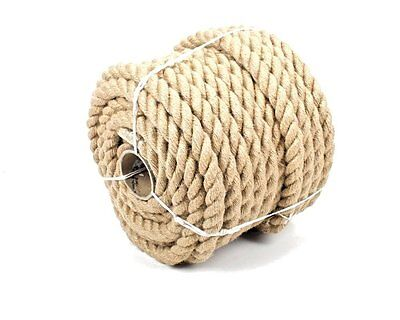 20mm 100% Natural Pure Jute Rope 3 Strand Braided Twisted Cord Twine Sash New • 10.10£
