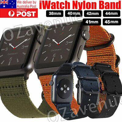 AU12.29 • Buy For New IWatch Apple Watch Series 5 4 3 44mm Nylon Woven Band Strap Replacement