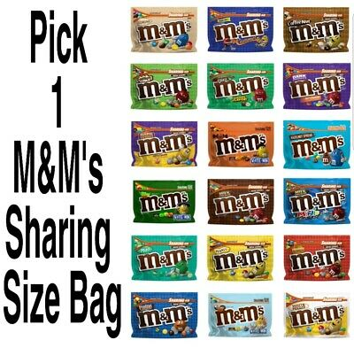 $12 • Buy Pick 1 M&M's Sharing Size Resealable Chocolate Candies M&Ms Bag