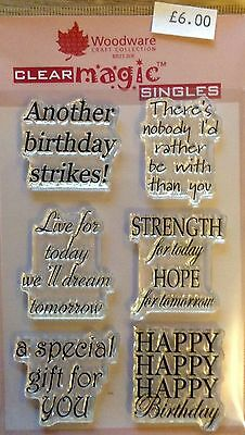 Woodware Clear Magic Everyday Verse Stamp Set JGS379 Jane Gill Collection • 6£