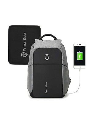Armor Gear Bulletproof And Anti Theft Backpack With USB Port • 79.99$